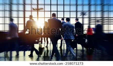 Airport Commuter Business Travel Tour Vacation Concept - stock photo