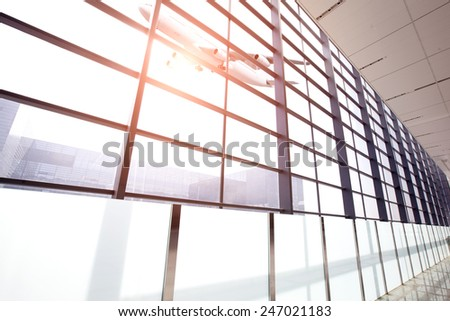 airport concept,in the airport - stock photo