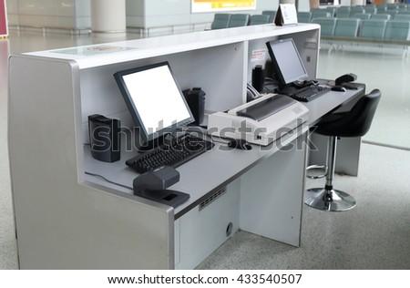 Airport gate - stock photo