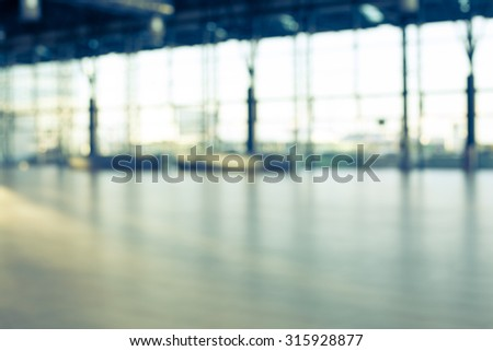 AIRPORT HALL BACKGROUND - stock photo