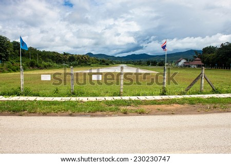Airport in Pai, northern Thailand - stock photo