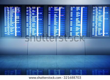 Airport Information Boarding Destination Terminal Concept - stock photo