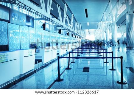 Airport interior - stock photo