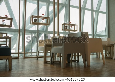 Airport lounge service for passenger - stock photo