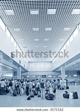 airport passenger - stock photo