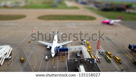 airport platform - stock photo