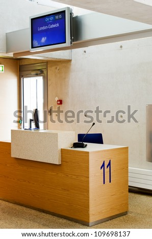 Airport Terminal Gate desk - stock photo