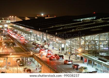 Airport Terminal Stuttgart (Germany) - stock photo