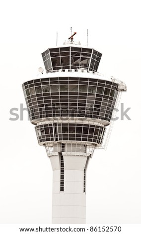 airport tower for the safety of the airplane - stock photo