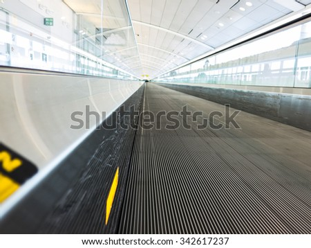 Airport View - stock photo