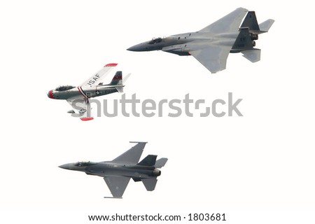 Airshow formation flying - stock photo