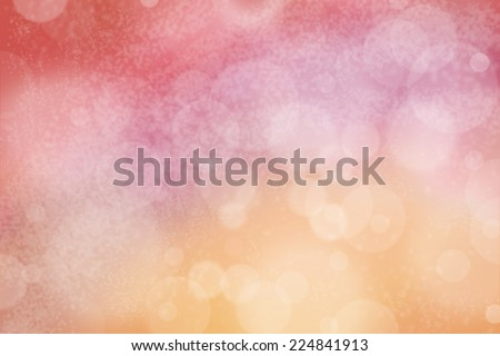 Airy background with bokeh and other lights effect on pink, purple, red and orange - stock photo