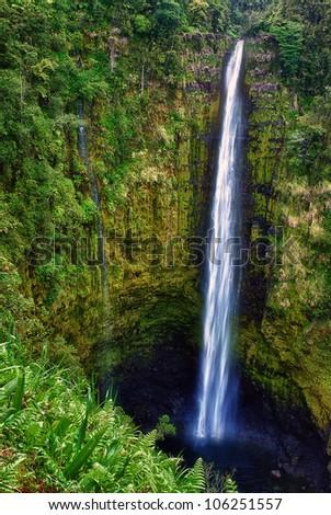 Akaka Falls State Park, Big Island Hawaii - stock photo
