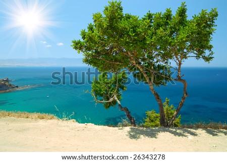 Akamas peninsula (Aphrodite's bathes, Cyprus) - stock photo