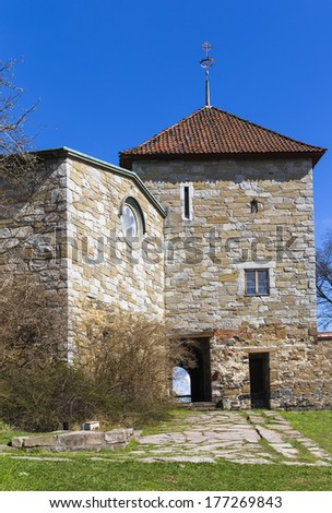 Akershus Castle and Maiden Tower. Oslo. Norway - stock photo