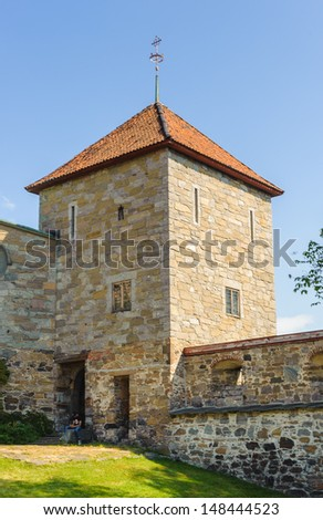 Akershus Castle Tower, Oslo,  Norway. - stock photo