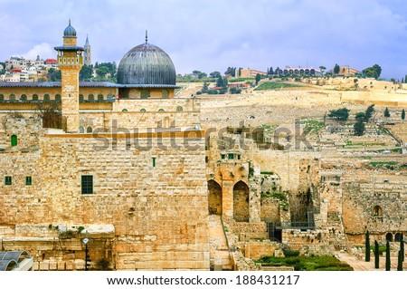 Al Aqsa mosque, Jerusalem - stock photo