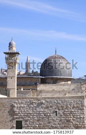 Al Aqsa Mosque, Jerusalem, Israel - stock photo