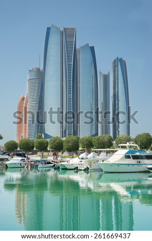 Al Bateen marina  - stock photo