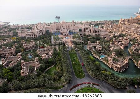 Al Qasr Palace Madinat Jumeirah In Dubai - stock photo