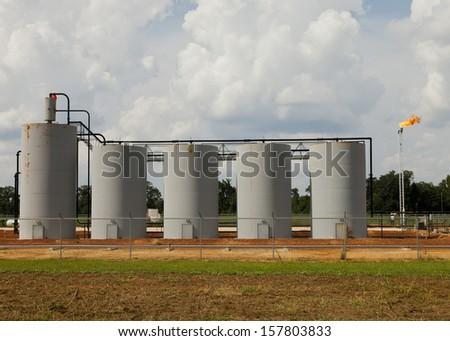 Alabama well site  - stock photo