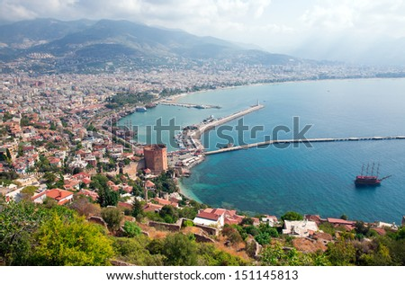 Alanya city,  - stock photo