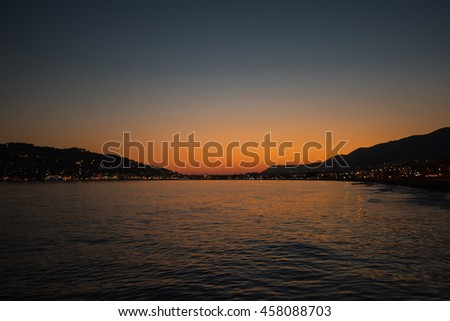 Alanya in the evening - stock photo