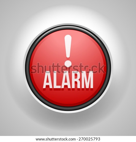 Alarm button - stock photo