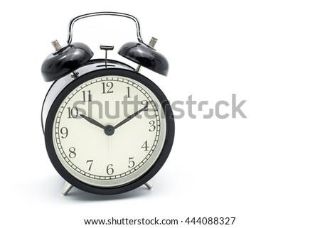 Alarm clock at Ten o'clock ten minute - stock photo