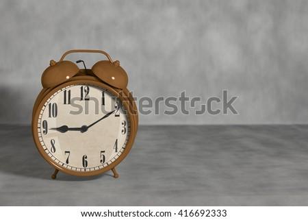 alarm clock 3d rendering - stock photo