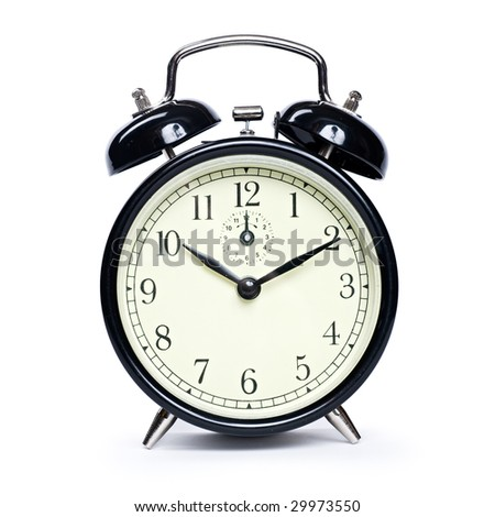 Alarm clock isolated - stock photo