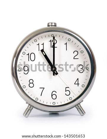 Alarm Clock, showing eleven o'clock - stock photo
