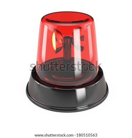 Alarm light isolated on white background. 3d render - stock photo