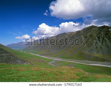 Alaska, Atigun Pass - Dalton Highway (service Haul Road from Fairbanks to Deadhorse) - stock photo
