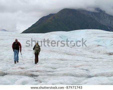 Alaska Glacier - stock photo