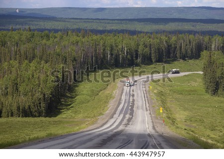 Alaska Highway  - stock photo