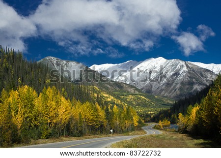 Alaska Highway - stock photo