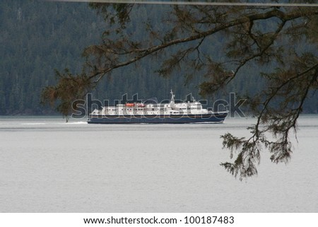Alaska Marine Highway Ferry Boat - stock photo