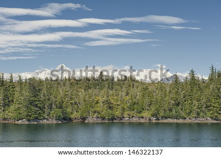 Alaska prince william sound glacier cruise huge panorama view - stock photo