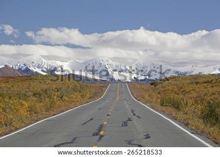 Alaska road - stock photo