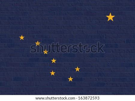 Alaska state flag of America, isolated on white background. - stock photo