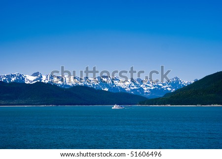 Alaskan Inside Passage Landscape - stock photo
