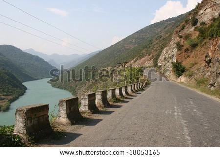 Albanian road 02 - stock photo