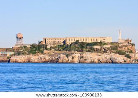 Alcatraz island - Famous prison in San Francisco - stock photo
