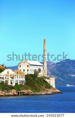 "Alcatraz powerhouse on northeast corner of island.  ""Alcatraz Powerhouse"" - stock photo"