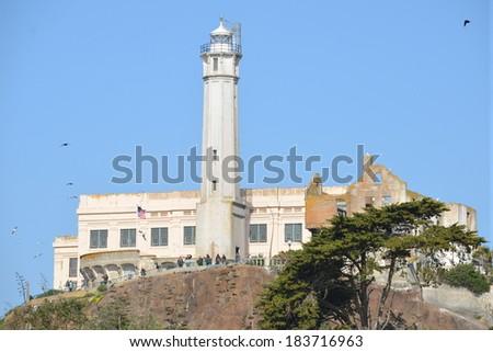 Alcatraz Prison - stock photo