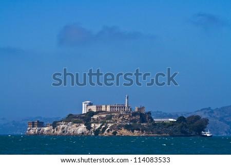 Alcatraz Prison in the San Francisco Bay, San Francisco, California. - stock photo