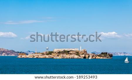 Alcatraz Prison on the island , San Francisco, USA - stock photo