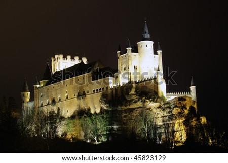 Alcazar palace in Segovia - stock photo
