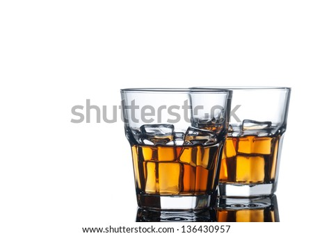 Alcohol drink on white - stock photo